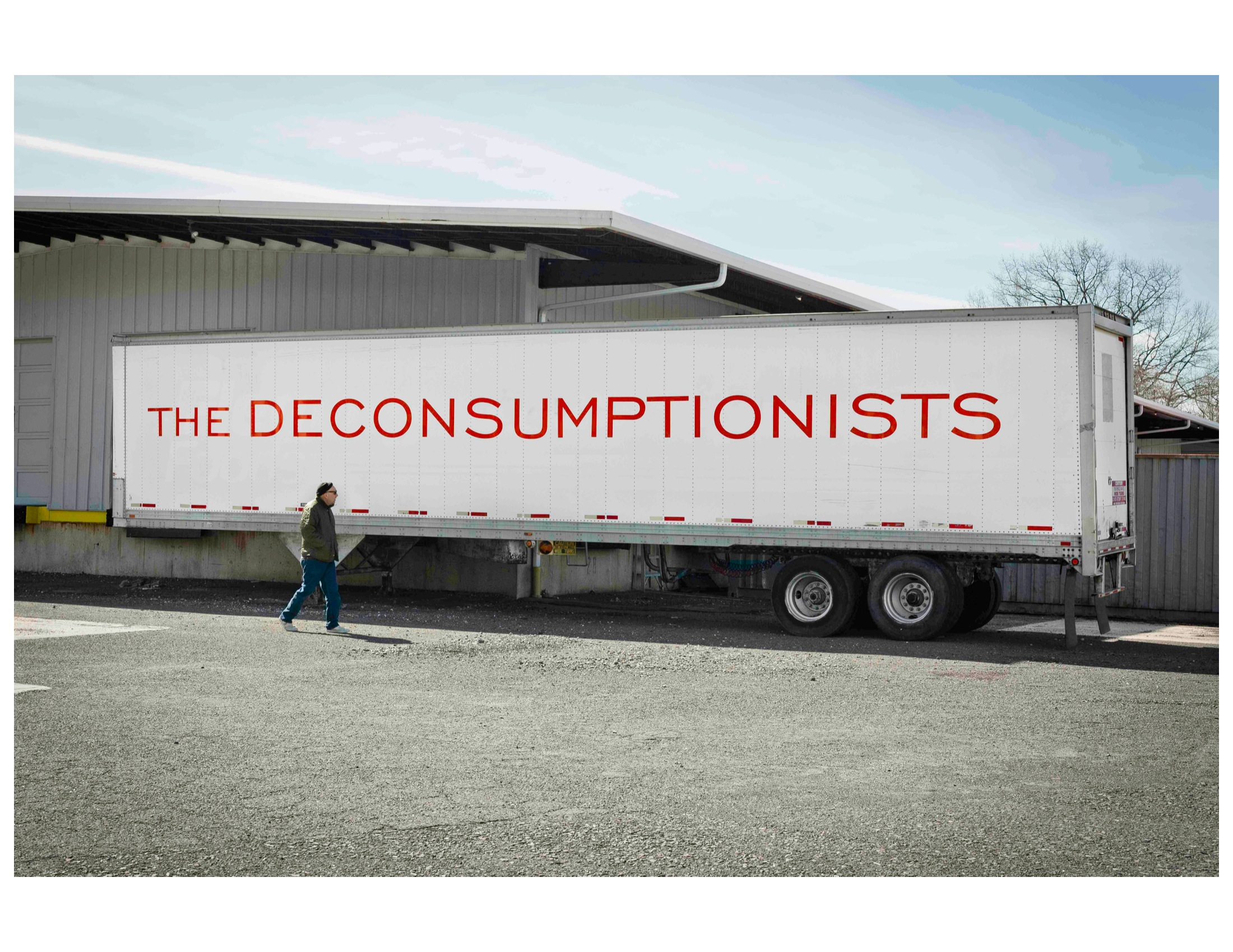 EIDIA - Paul Lamarre, Melissa P. Wolf The Deconsumptionists, Art As Archive 48ft semi-trailer exterior view, Philadelphia, Pennsylvania USA ©Lamarre Wolf 2011